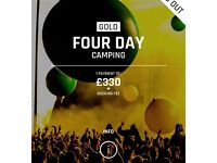 Creamfields VIP gold 4 day camping tickets x 2