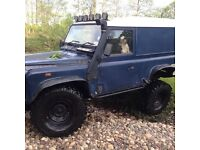 Land Rover defender 90 4x4 300tdi 4x4 modified off roader. Swap px