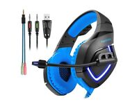 Gaming Headset for PS4 Xbox One S PC Mac