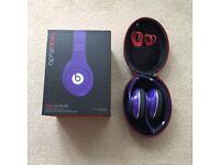 Beats Studio over ear headphones, purple, wired