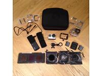 GoPro Hero 4 Black 4K Action Cam plus accessories alone worth £200+