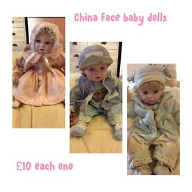 China faces dolls