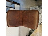 6 Brown Suede Dining Room Chairs.