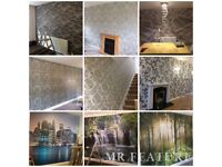 £100 PER FEATURE WALL FITTING. PAINTER AND DECORATOR. 100% QUALITY ASSURED. GOOGLE BUSINESS REVIEWS