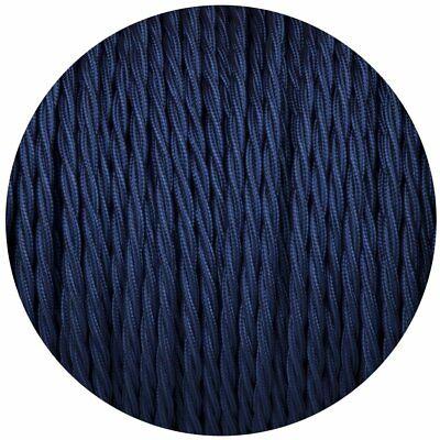 Azul Oscuro Color 3 Núcleo Retorcido Eléctrico Cable Cubierto Tela 0.75mm