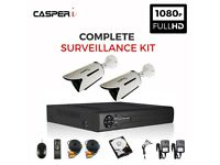 1080P 4CH DVR kit with 2 x CCTV 2.0MP HD Bullet Cameras with IR Night Vision With 1TB HDD