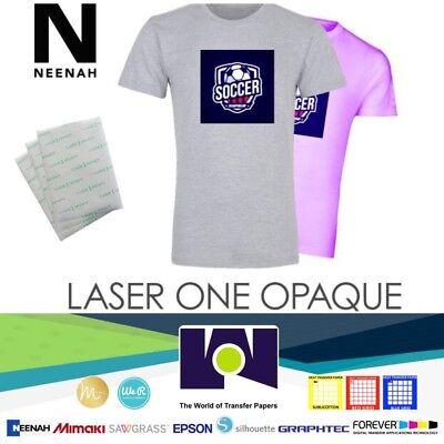 Laser 1 Opaque Dark Shirt Heat Transfer Paper A4 5 Sheets