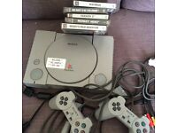 Classic ps1 with two controllers all wires and games