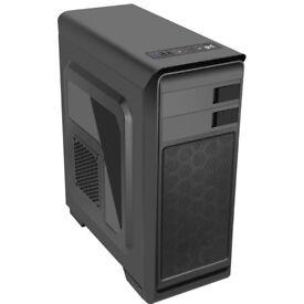 New ATX case CIT Hero Black front blu fan