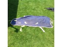 Blue cotton sheet rug for pony 12.-13hh