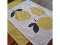 MOVING SALE: John Lewis Lemon Tea Towels - QTY 2