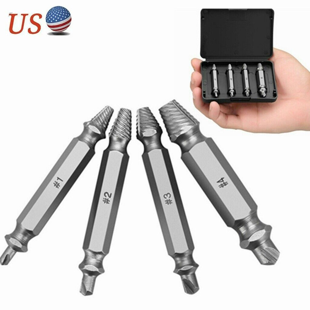 4x damaged screw extractor set speed out