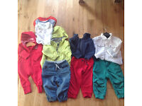Bundle of Polarn O. Pyret baby clothes: plus free t-shirts