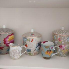 Pip Studio storage jars three..milk jug ...mug