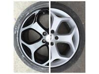Alloy wheel refurbishment and valeting