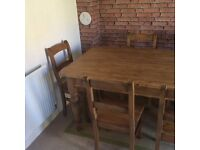 RECLAIMED ANTIQUE PINE 6 SEATER DINNING TABLE ONLY BOUGHT AT XMAS £1200 9.5/10 cond