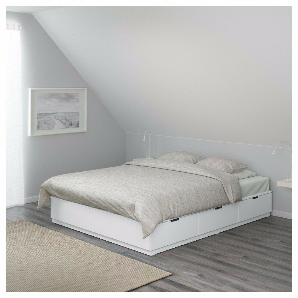 Brand new Ikea Nordli white bed frame with drawers | in Clifton ...