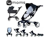 4Moms Origami Baby Stroller Pram With Bassinet & Raincover Automatically Folding