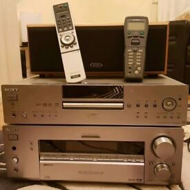 SONY STR DB940 Amplifier with Remote and SONY DVP NS900V DVD Player with Remote with ELTAX Speaker