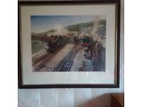 Framed Terence Cuneo print – signed limited edition Ffestiniog Work Horses