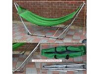 Stainless steel folding hammock with weight capacity 180kg on eBay