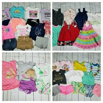Toddler Girls 2T 38 Piece Clothing Lot [Cat & Jack Carters Shorts Outfits]