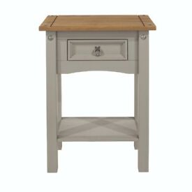 Grey 1 drawer side table