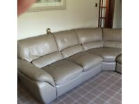 Corner sofa, single chair and footstool for sale!!