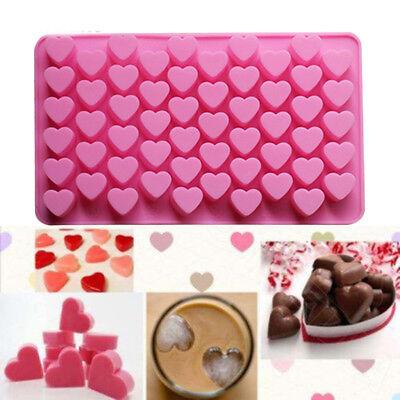 55-Cavity  Mini Fancy Bundt  Heart Cake Pan Silicone Mold Baking Mould
