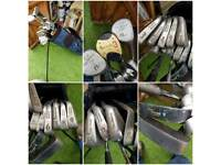 Golf club bag and clubs