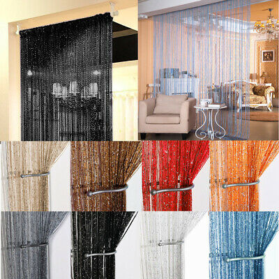 Beaded Door Curtains (String Door Curtain Beads Room Divider Window Panel Fringe Beaded Tassel)