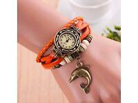 Ladies Faux Leather Quartz Wrist Watch - NEW DESIGN !!!