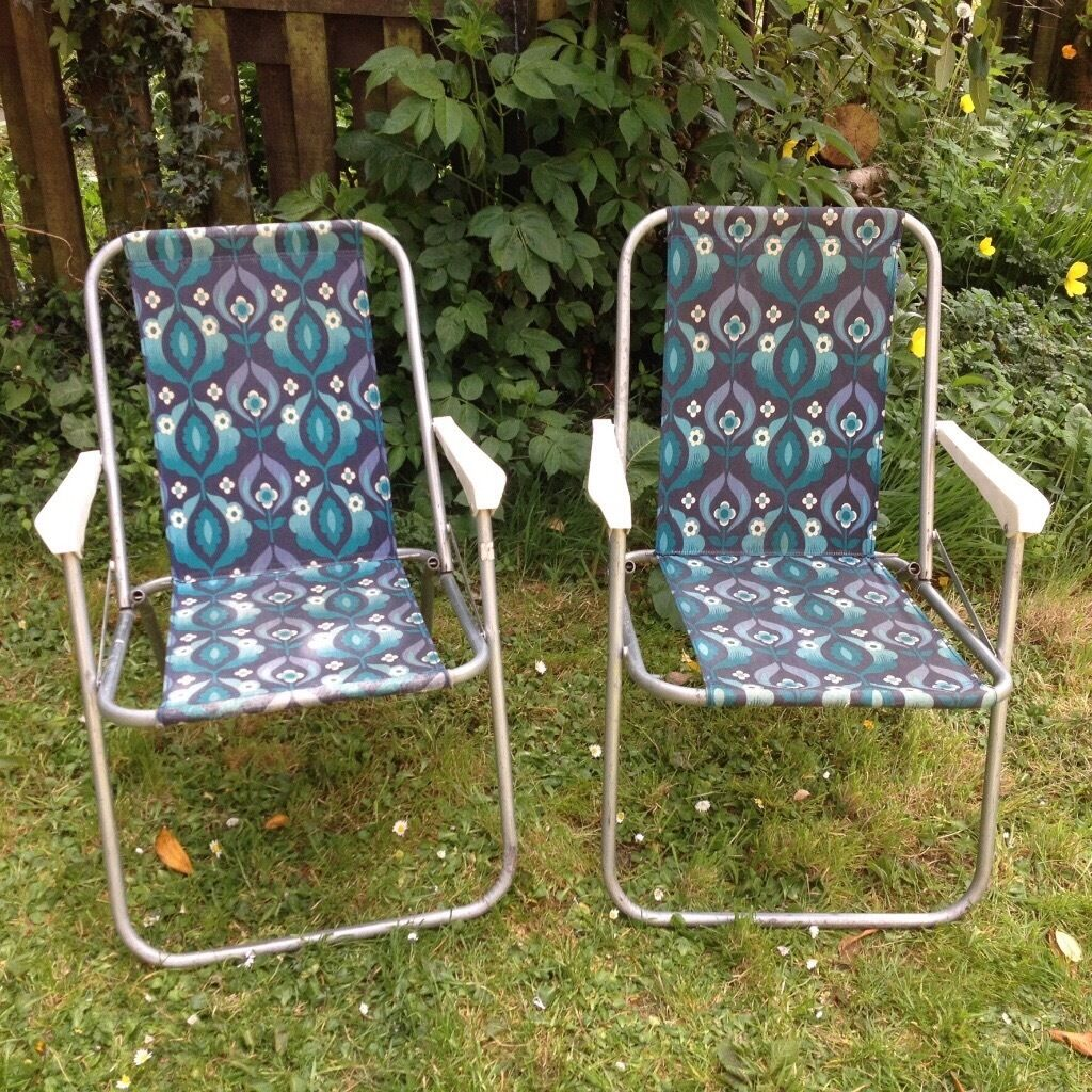 Vintage camping chair - Vintage Camping Chairs Picnic Chairs From 60 S 70 S