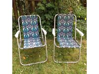 Vintage camping chairs/picnic chairs from 60's/70's