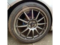 5x100 Team Dynamic pro race 1.2 alloy wheels Mk4 golf r32 Audi A3 seat leon