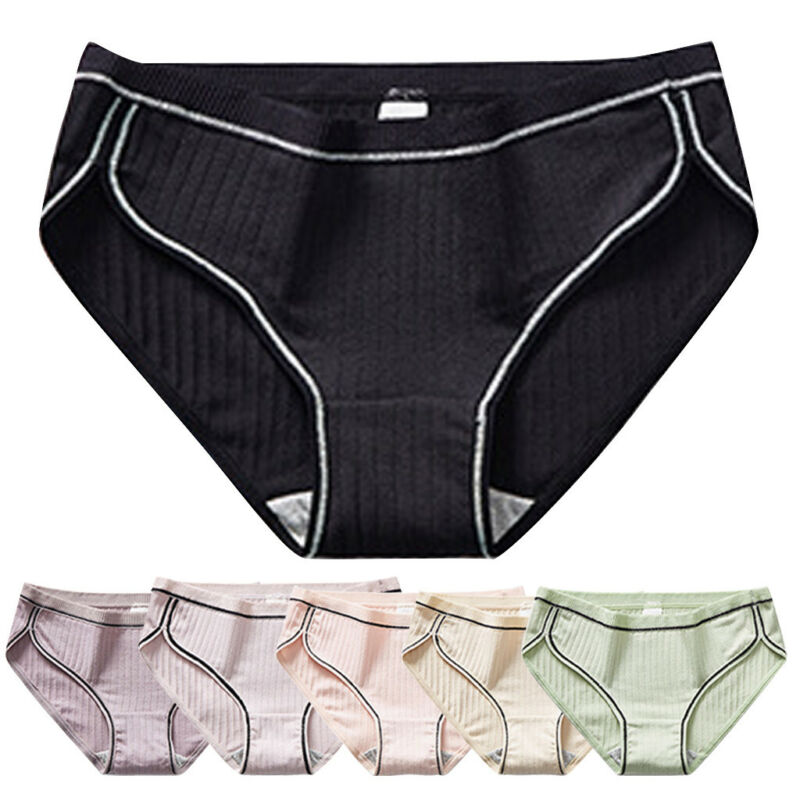 Women's Sexy Cotton knickers Sexy Breathable Thread Underpan