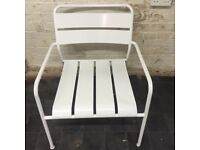 White metal armchair