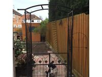 Black Wrought Iron Garden Gate - Height 2100mm Width 1013mm
