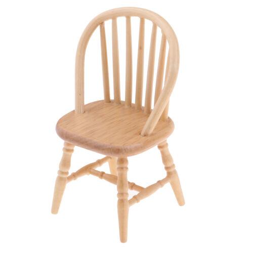 4pcs Dollhouse Miniature Home Bedroom Decor Furniture Wood Chair 1:12 Scale