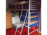 Childs silver cabin bed