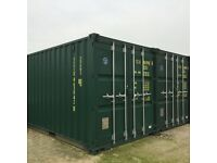 Domestic or business storage in shipping containers