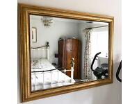 Mirror. Large vintage guilted mirror