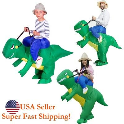 DH Halloween Inflatable Ride Dinosaur T-Rex Party Role Play Fancy Costume - Inflatable Costume Dinosaur