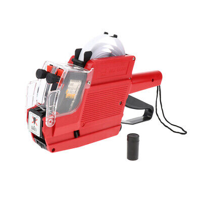 Mx-6600 10 Digits 2 Lines Price Tag Gun Price Labeller Multi-currency Red