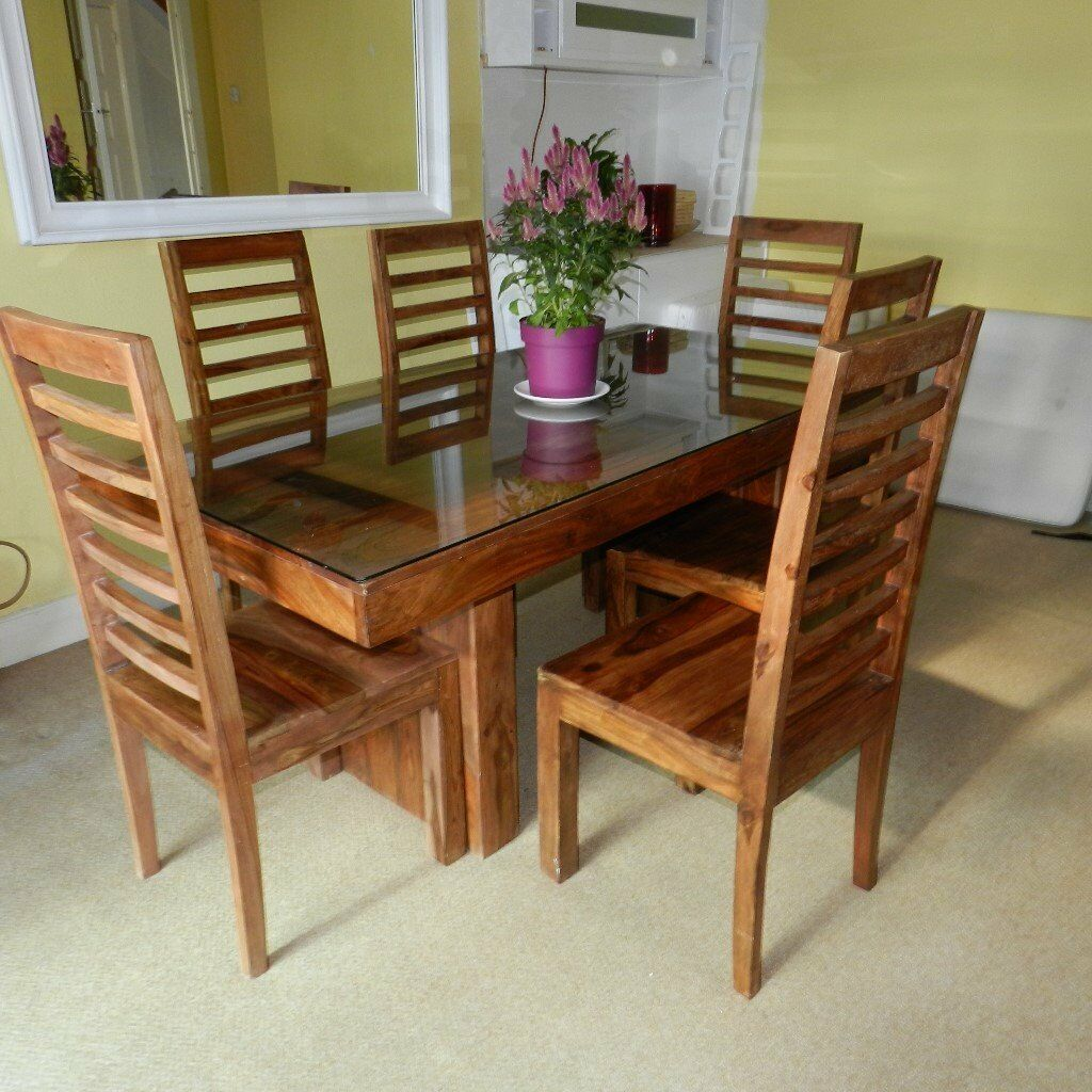 Reduced For Quick Sale 163 250 Ono Sheesham Dining Table
