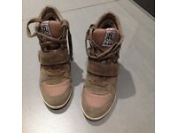 Ash beige wedge trainers