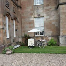 Vintage Ice cream bike bicycle for weddings events functions candy cart alternative