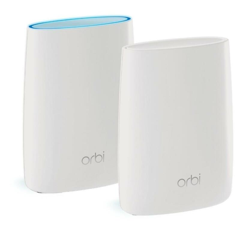 NETGEAR Orbi Whole Home Mesh WiFi System 5,000 sqft, AC3000 Set of 2-BLK ADAPTER