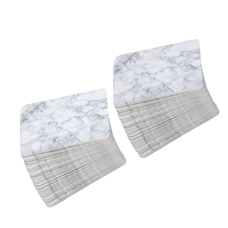 5*7 cm Color Printing Creative Earring Packaging Cards Marble