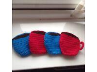 Beautiful Handmade Crochet Mug shape Coaster,Set of 4 Christmas House warming Gift